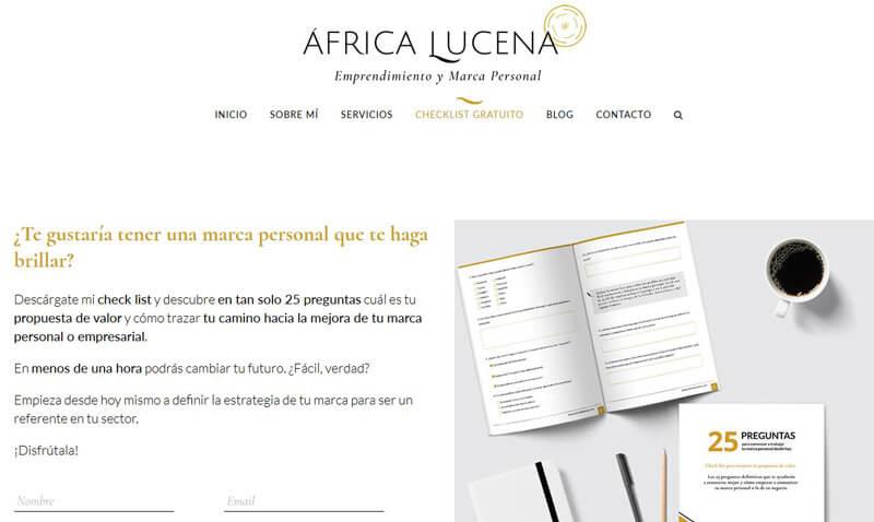 Lead Magnet de África Lucena
