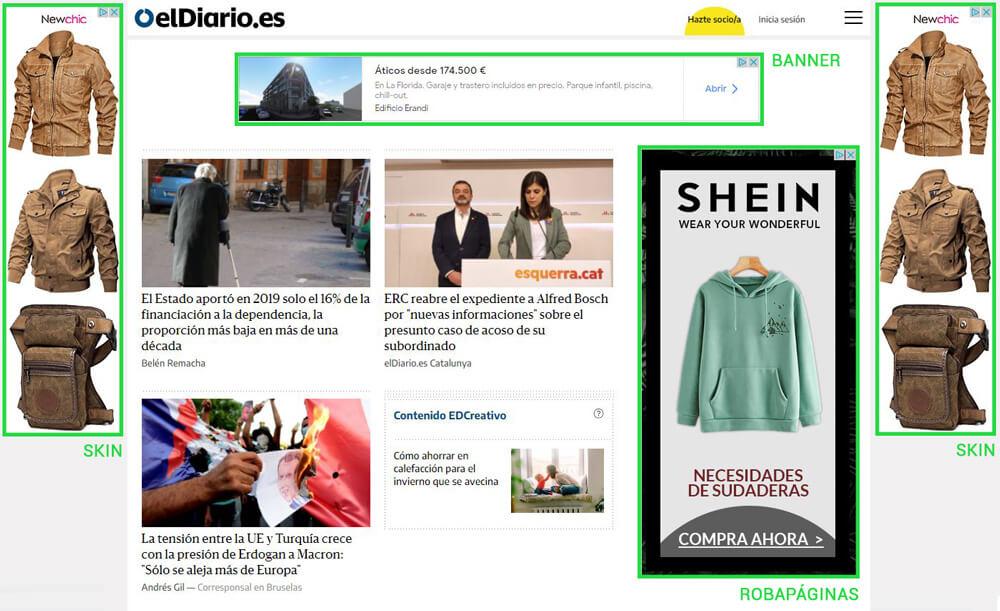 Campañas de display: Ejemplo